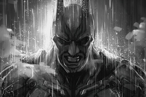 Batman Monochrome Artwork