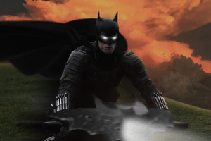 Batman On Batcycle 4k