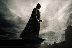 Batman On The Roof Of Seeing Gotham City