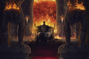 Batman On Throne