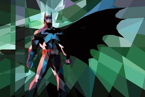 Batman Polygon Artwork Wallpaper
