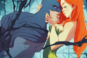 Batman Posion Ivy Romance 4k Wallpaper