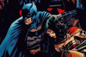 Batman Protecting Wonder Woman 4k
