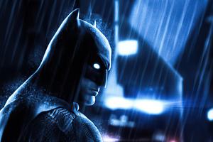Batman Rain 4k