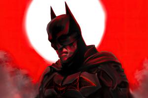Batman Red 4k 2020 Wallpaper