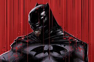 Batman Red 4k 2020 Artwork