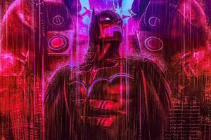 Batman Red Art Wallpaper
