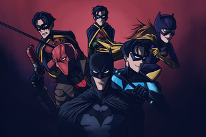 Batman Red Hood Night Wing Catwoman 5k Wallpaper
