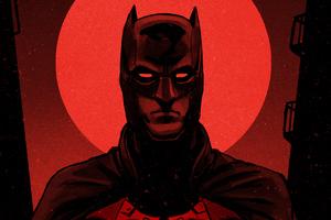 Batman Red Knight 4k