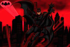 Batman Red Life Wallpaper