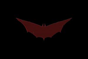 Batman Red Logo 8k Wallpaper