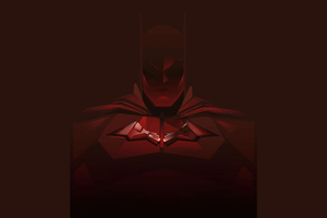 Batman Red Minimal 4k Wallpaper