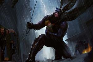 Batman Rescue 5k Wallpaper