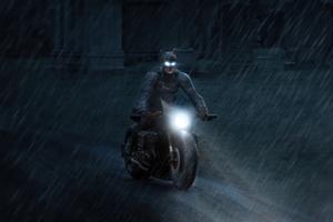 Batman Robert Pattinson On Bike 4k Wallpaper