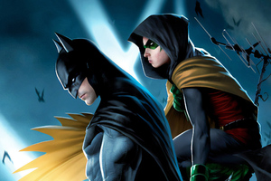 Batman Robin Art Wallpaper