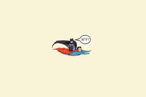 Batman Sitting On Superman Flight 4k