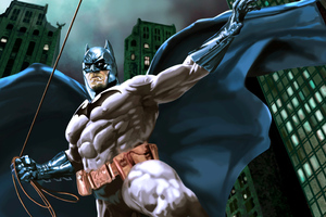 Batman Suit Cape Comic Art 4k