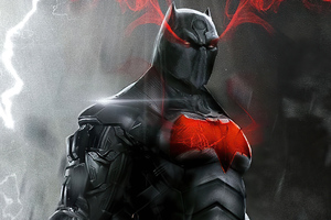 Batman Suit Red Logo