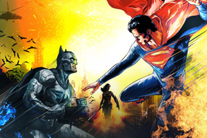 Batman Superman Art New Wallpaper