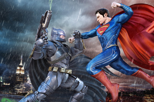 Batman Superman Fight 4k Wallpaper