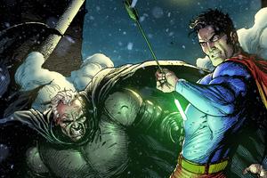 Batman Superman Fighting