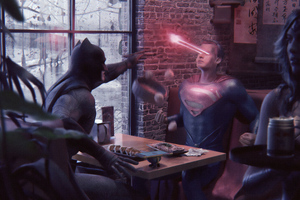 Batman Superman Laser Eye