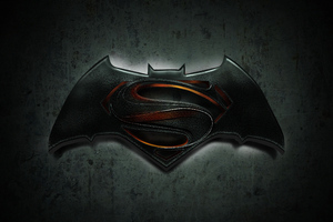 Batman Superman Logo 4k Wallpaper