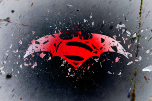 Batman Superman Logo Art 4k Wallpaper