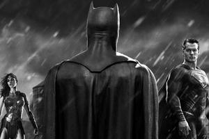 Batman Superman Wonder Woman Black 4k