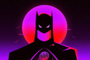 Batman Synthwave Wallpaper