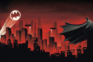 Batman The Animated Series Red World 4k