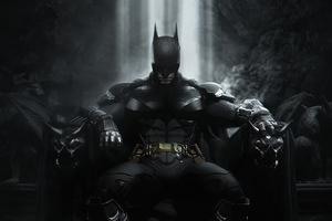 Batman Throne 4k Wallpaper
