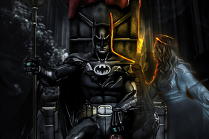 Batman Throne Artwork 4k Wallpaper