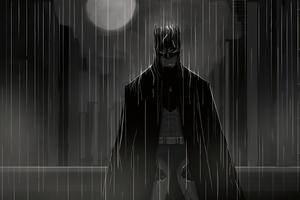 Batman Under The Rain 4k Wallpaper