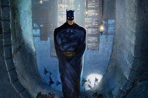 Batman Up Side Down Wallpaper