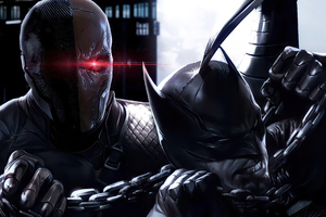 Batman V Deathstroke 4k Wallpaper