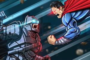 Batman V Superman Comic Fan Art Wallpaper