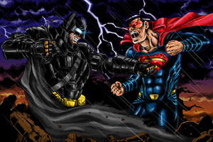 Batman V Superman Fan Art Illustration
