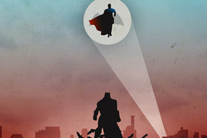 Batman V Superman Look Up Wallpaper