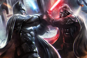 Batman Vs Darth Vader 4k Wallpaper