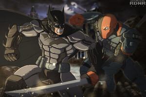 Batman Vs Deathstroke Artwork