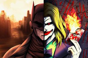 Batman Vs Joker Game Of Cards 4k Wallpaper