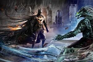Batman VS Killer Croc Art