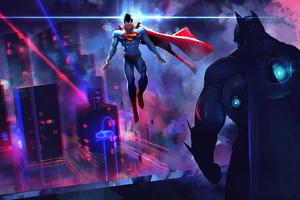 Batman Vs Superman Art Wallpaper