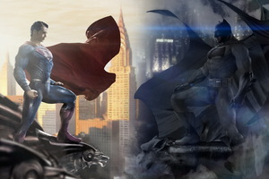 Batman Vs Superman Day Vs Night Art