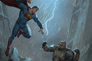 Batman Vs Superman Fight Scene 5k Wallpaper