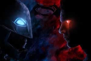 Batman Vs Superman Paint Artwork 5k
