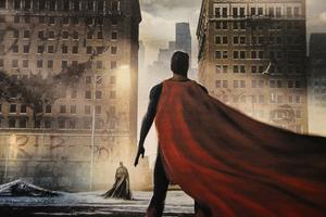 Batman Vs Superman Painting 5k