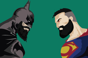 Batman Vs Superman With Beard