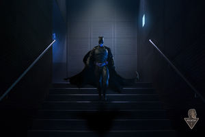 Batman Walking Downstairs